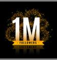one million followers celebration fireworks vector image vector image
