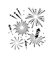 outline firework decoration to celebrate event vector image vector image
