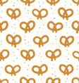 Pretzels pattern vector image vector image