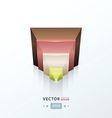 pyramid design icon vector image
