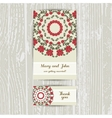 Red Flowers Brochure And Business Card vector image