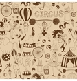 Retro seamless circus background pattern vector image