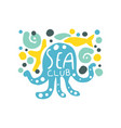 sea club logo original design with octopus and vector image vector image