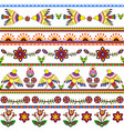 Seamless pattern with birds and flowers Floral vector image vector image