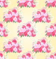 Seamless texture bouquet of roses and orchid vector image vector image