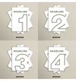 set of brochures with numbers on the cover vector image vector image