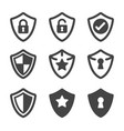 shield icon vector image