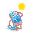 smartphone under hot sun vector image vector image