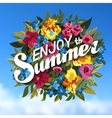 Summer Typographical Background With different vector image vector image