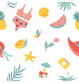 summertime seamless pattern welcome summer vector image vector image