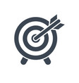 target glyph icon flat icon isolated on vector image vector image