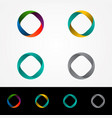 technology orbit web rings logo design vector image vector image