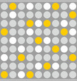 tile pattern with grey white and yellow polka dot vector image vector image