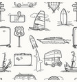 travel seamless background vintage style vector image vector image