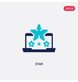two color star icon from blogger and influencer vector image vector image