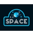 Vintage space and astronaut background vector image vector image