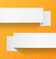 White sheets of paper on a orange background vector image