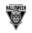 zombie head vintage halloween emblem badge label vector image