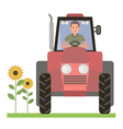 Tractor driver vector image