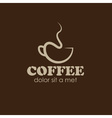 abstract coffee cup design template vector image