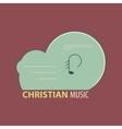 Christian music icon vector image