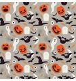 Seamless cartoon Halloween pattern Halloween vector image