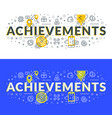 achievements flat line concept for web banner and vector image vector image
