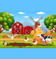 animal at the farm vector image