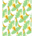 bananas pattern transparent background vector image vector image