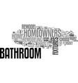 bathroom fixtures text word cloud concept vector image vector image