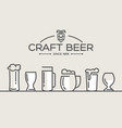 beer glasses set collection vector image