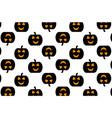 black pumpkin on white background vector image vector image