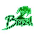 Brazil green symbol vector image