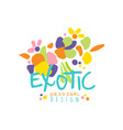 bright scribble exotic logo design vector image vector image