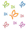 butterfly business background vector image vector image