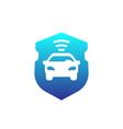 car alarm icon vector image