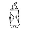 caricature hourglass female body shape sketch vector image vector image