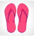 cartoon pink beach slippers vector image