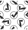 check list button icon check mark in round sign vector image vector image