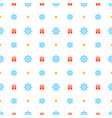 christmas seamless pattern with snowflakes on vector image vector image