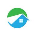 circle home robuilding logo image vector image vector image