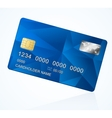 Credit Card blue vector image vector image