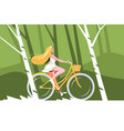 cute girl riding bike vector image vector image