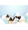 cute mountain and cloud background paper art and vector image vector image