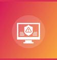 cyber attack icon vector image vector image