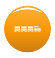 electric train icon orange vector image
