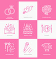 event agency wedding organization line vector image vector image