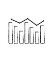 figure arrow with statistics diagram bar vector image vector image