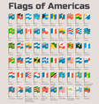 flags americas vector image