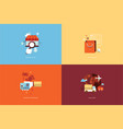 flat design concept icons for online shopping vector image
